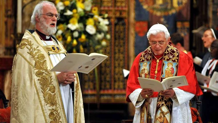 Paus Benedictus XVI in de Westminster Abbey in Londen Beeld afp