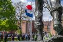 dodenherdenking vrijheidspark tilburg  sober programma gedeeltelijk -door extreem slecht weer- naar binnen verplaatst