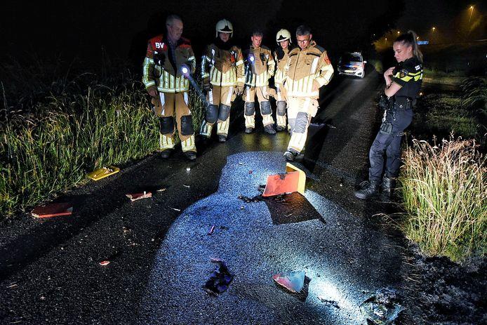 De brand was vermoedelijk met een vloeistof aangestoken.