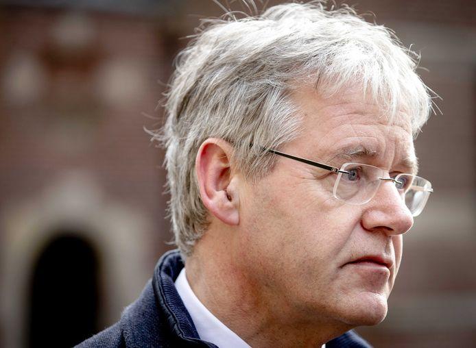 Minister Arie Slob voor Basis- en Voortgezet Onderwijs vrijdag op het Binnenhof