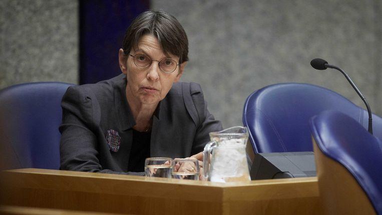 Staatssecretaris van Sociale Zaken Jetta Klijnsma in de Tweede Kamer. Beeld ANP