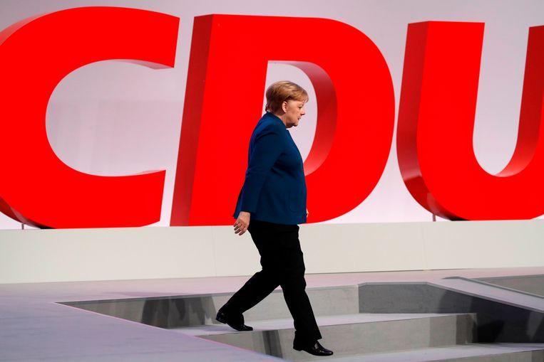 Het post-Merkel-tijdperk is van groot belang, want als puntje bij paaltje komt kijkt iedereen in de richting van de Duitsers bij het bepalen van de toekomstige koers van de Europese christendemocraten.  Beeld AFP