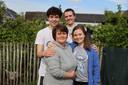 Fanny met haar gezin.