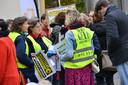 Protestmars van leraren in Breda