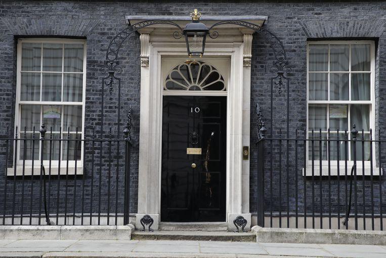 De deur van Downing Street 10, de ambtswoning van de Britse premier. Beeld AFP