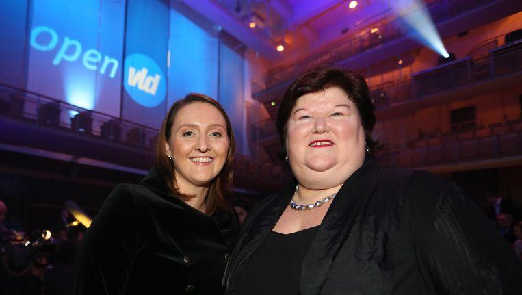 Gwendolyn Rutten en Maggie De Block. Beeld BELGA