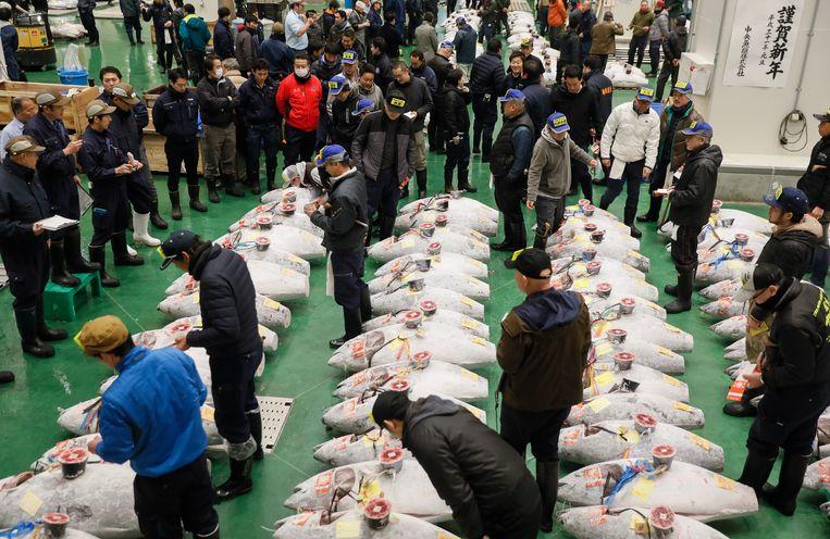 De tonijnveiling. Beeld EPA