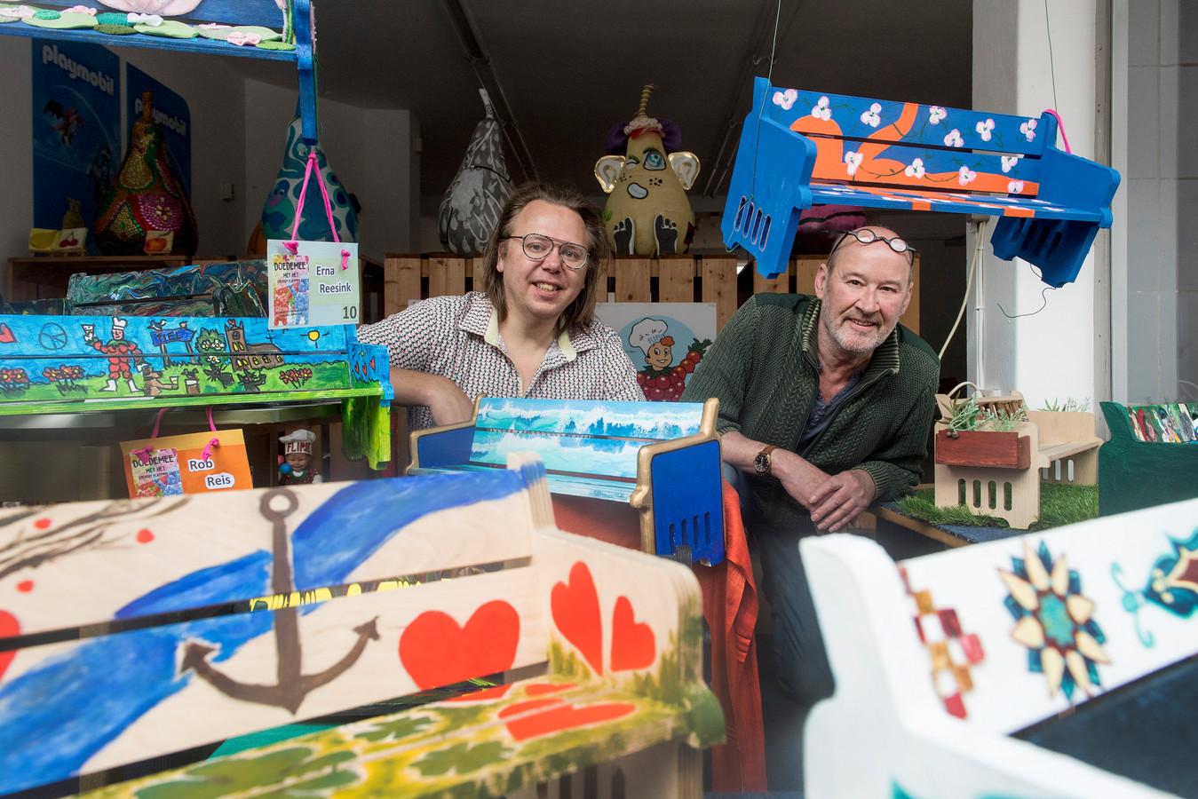 Jean Paul Opperman (l) en Frans Ebing van het Creatief Platform.