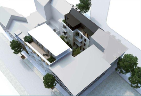 Een toekomstbeeld: er komen appartementen met een binnentuin