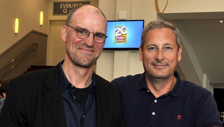 Twee oprichters van Studio 100 Hans Bourlon en Gert Verhulst.