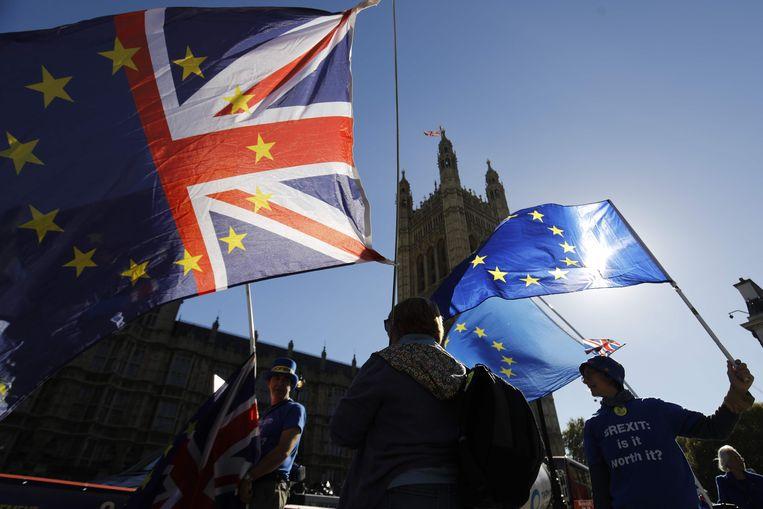 De grens tussen Noord-Ierland en Ierland is een van de grootste obstakels in de onderhandelingen tussen het Verenigd Koninkrijk en de EU Beeld AFP