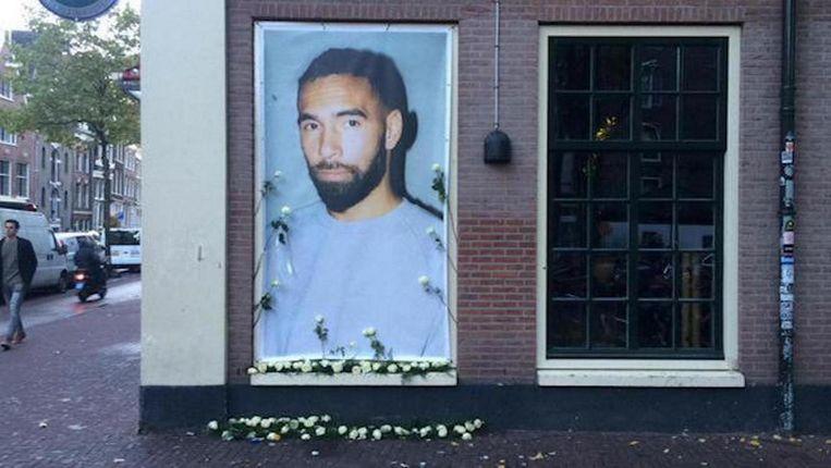Herdenkingsbeeld van de dj bij Bitterzoet, waar hij als programmeur werkte Beeld Tom Kieft