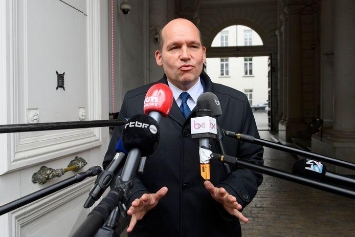 Philippe Close après sa rencontre avec la Première ministre ce mardi 9 juin.