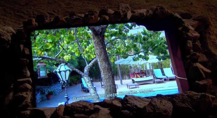 Dit is een van de fragmenten die Donna te zien krijgt tijdens het eerste vuurkamp van 'Temptation Island: Love or Leave'.