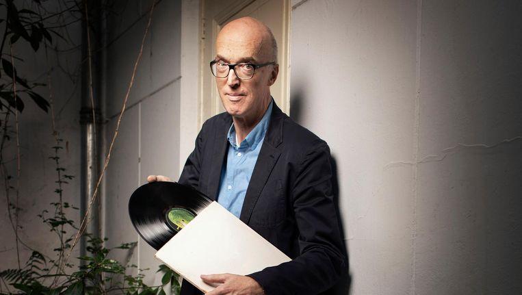 Piet Schreuders op de klapstoel Beeld Harmen de Jong