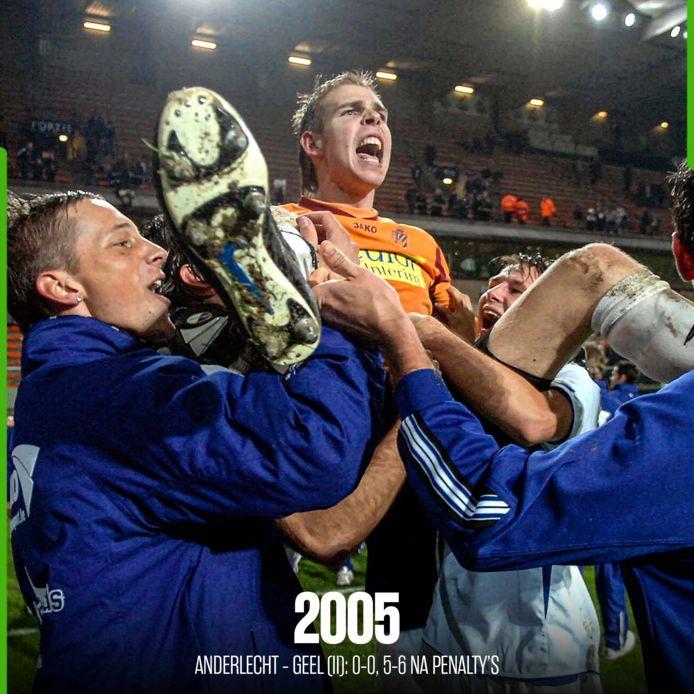 Geel schakelde Anderlecht uit na strafschoppen.