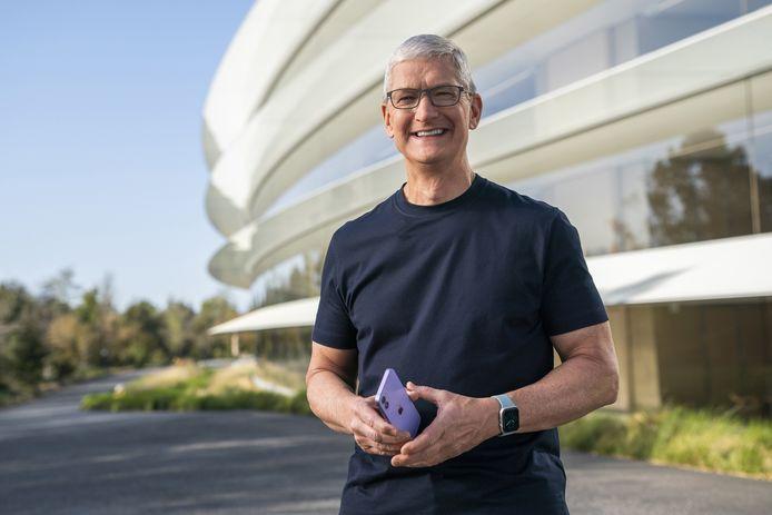 Topman Tim Cook van Apple.