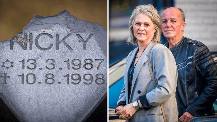 De ouders van Nicky bij de rechtbank in Maastricht.