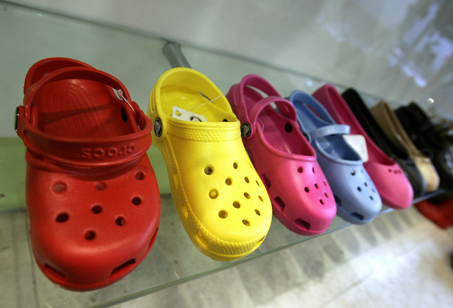 Het bekendse model van Crocs.