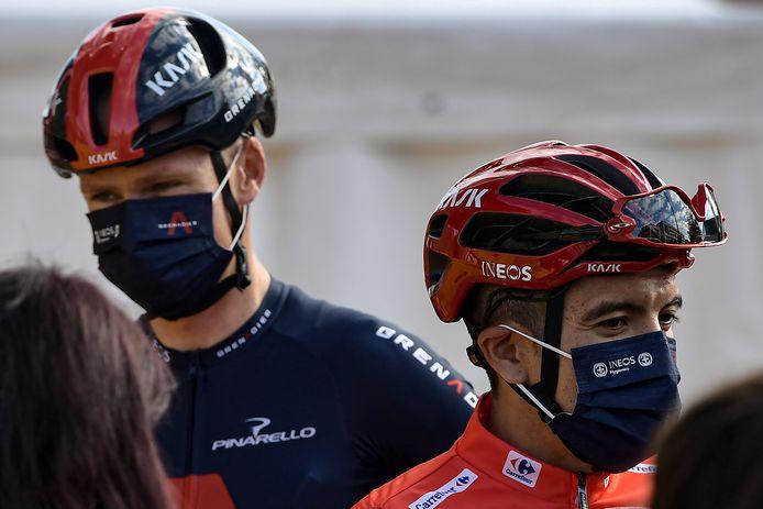 Chris Froome en Richard CARAPAZ.