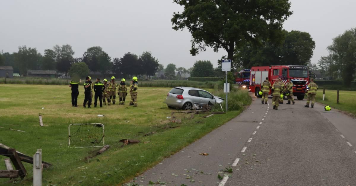 Ravage bij ongeval Lunteren.