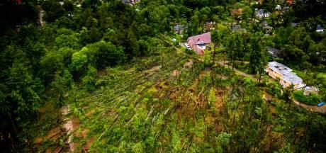 Zwaar beschadigde Lombokbos Leersum mogelijk nog tot het einde van het jaar afgesloten na valwind