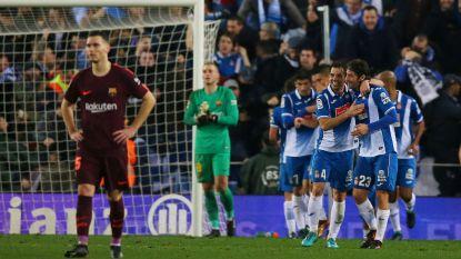 Barça (met Vermaelen) kan zowaar nog verliezen: 1-0 de boot in bij Espanyol in beker