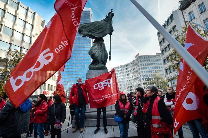 Actie van het ACOD Onderwijs in november vorig jaar.