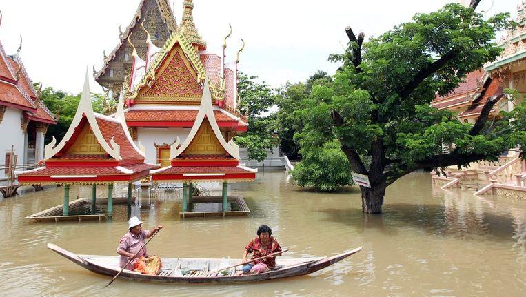 Miljoenen mensen zijn getroffen door de overstromingen. Thaise meteorologen voorspellen nog meer regen voor de komende dagen. Beeld epa