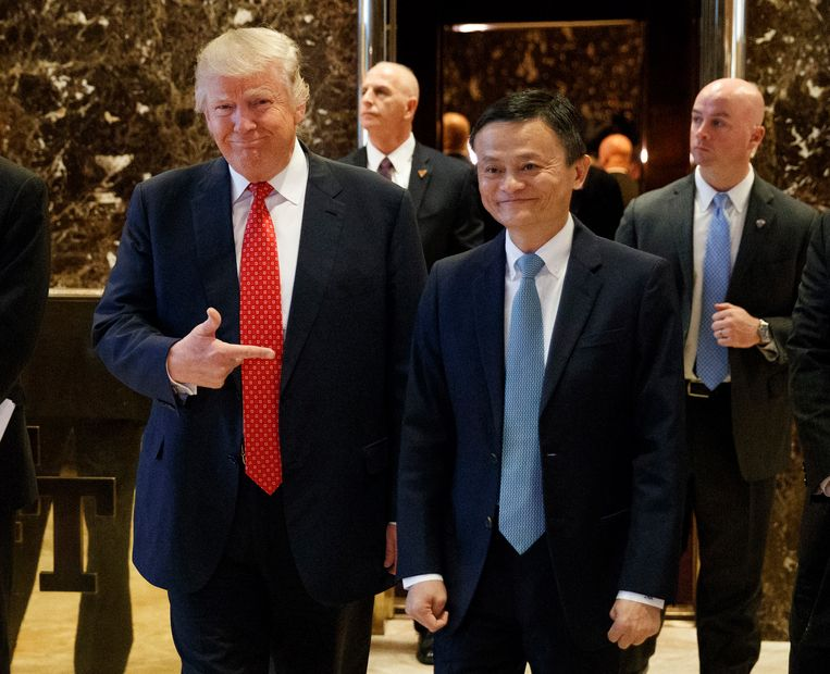 Begin 2017 had Jack Ma een ontmoeting met de toen net verkozen Amerikaanse president Donald Trump. Beeld AP