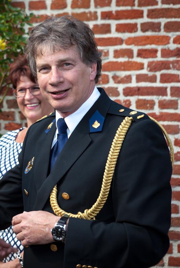 Commissaris Henk Tromp bij zijn afscheid van de politie Oost Brabant
