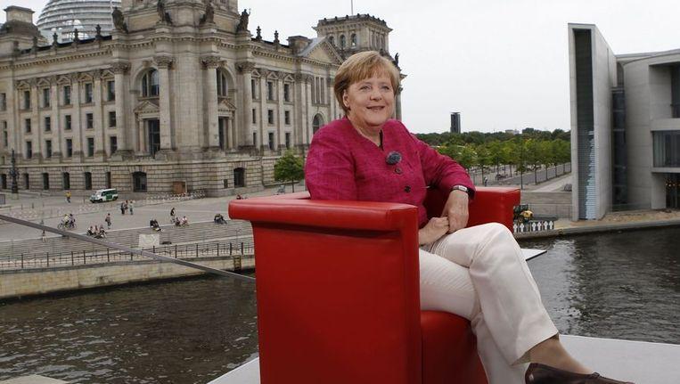 Angela Merkel deed haar uitspraken in een interview met de Duitse omroep ARD. Beeld REUTERS