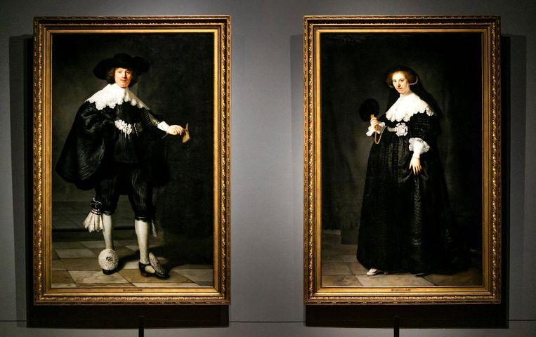 De portretten van Marten Soolmans en Oopjen Coppit van Rembrandt van Rijn maken deel uit van de tentoonstelling. Beeld ANP