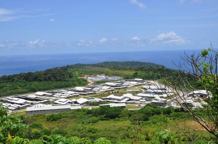 Het detentiecentrum op Christmas Island. Beeld epa