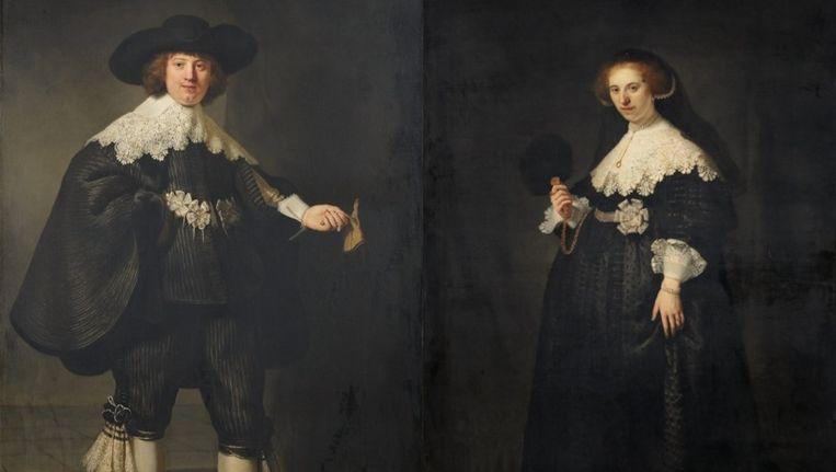 Het echtpaar Maerten en Oopjen van Rembrandt dreigt gescheiden te worden door Nederland en Frankrijk. Beeld anp