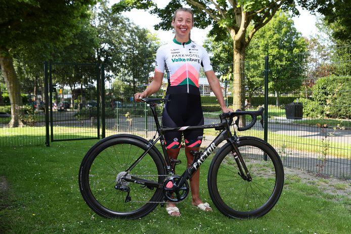 """Wielrenster Kirstie van Haaften: ,,Als ik te snel ga, dan maak ik meer kapot."""""""
