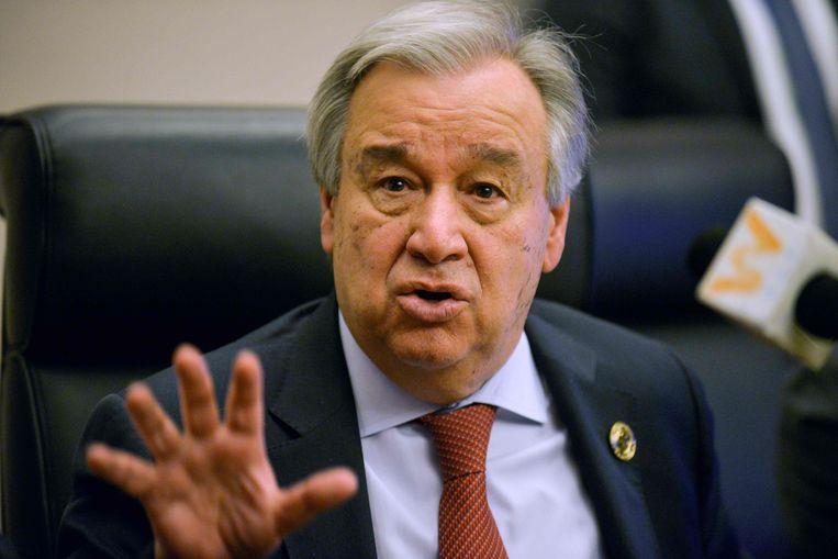 VN-secretaris-generaal Antonio Guterres riep op 23 maart vergeefs op tot een wereldwijd staakt-het-vuren. Beeld AFP