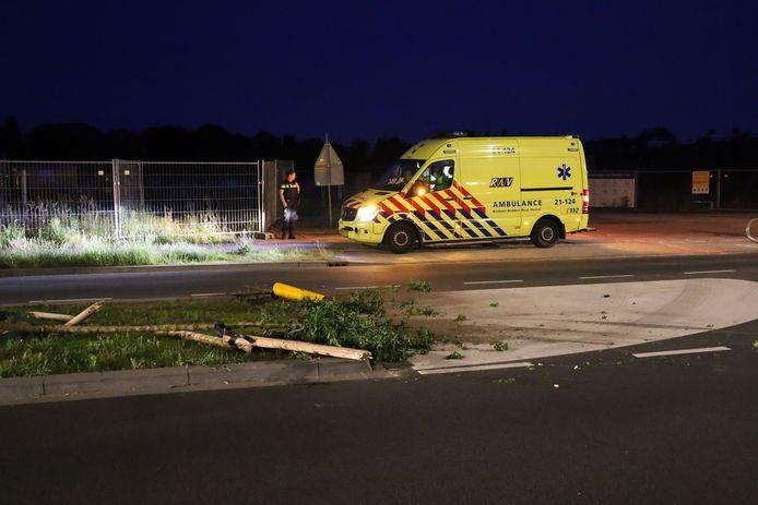 Op de losplaats in Uden vond een aanrijding plaats.