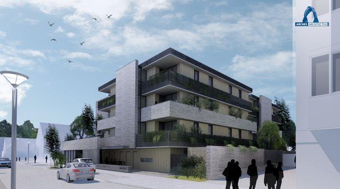 Het voorlopig ontwerp voor de nieuwbouw aan de Zoutstraat in Eindhoven. De 29 appartementen komen in de plaats van het voormalige gebouw van Popei.