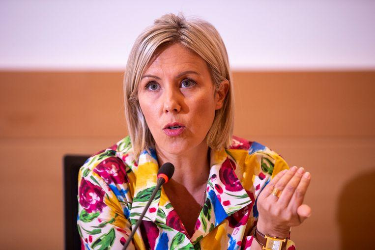 Minister Ludivine Dedonder (PS) Beeld BELGA