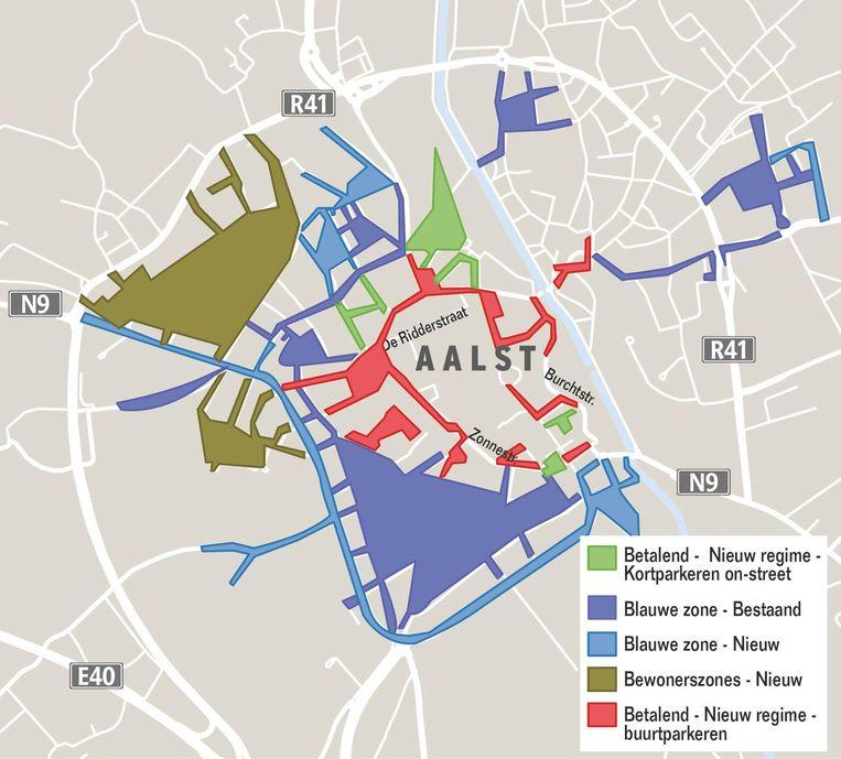 De stad krijgt binnenkort enkele nieuwe blauwe zones bij.