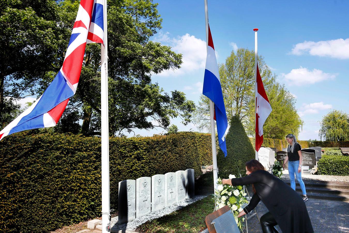 Kleinschalige herdenking op de begraafplaats van Hei- en Boeicop vorig jaar. Net als vorig jaar, wordt er dit jaar een video van de herdenking gedeeld, zo dat een ieder vanuit huis bij het moment stil kan staan.