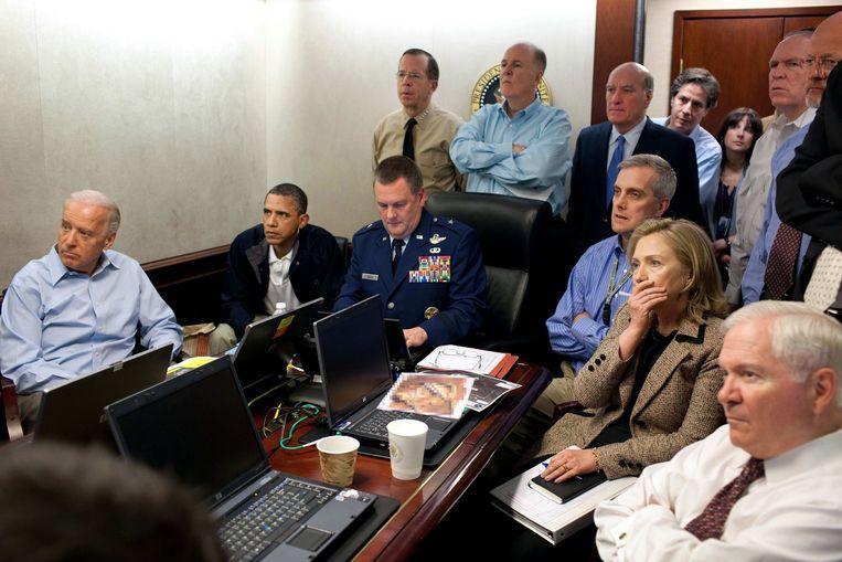 Situation Room - De jacht op Bin Laden (Pete Souza, Washington, 2012). Beeld AP
