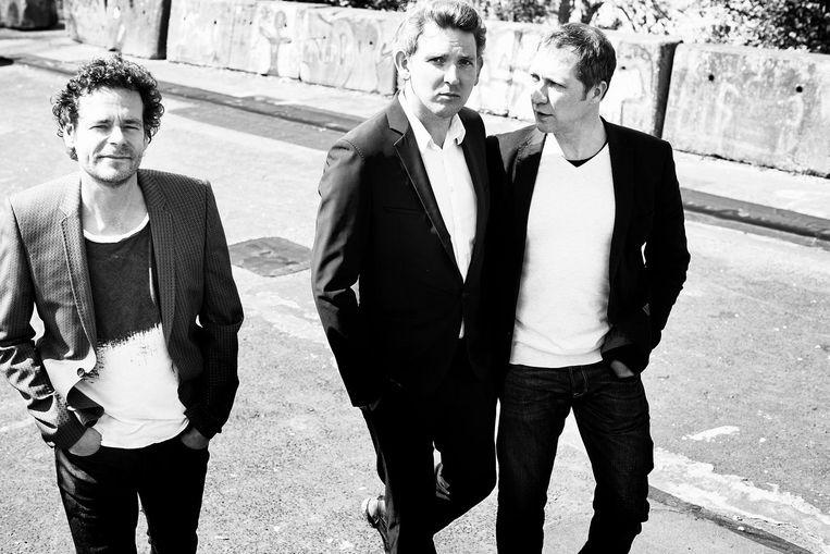 Het Leidse trio Kraak & Smaak met Mark Kneppers op rechts. Beeld Paul Berends