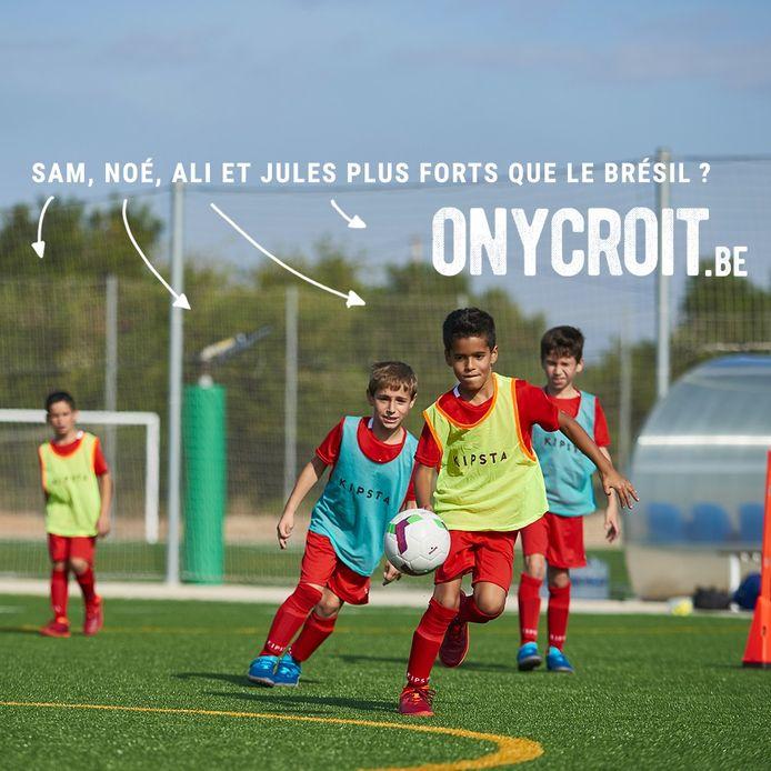 """Campagne """"On y croit"""" des Decathlon de la province de Liège."""