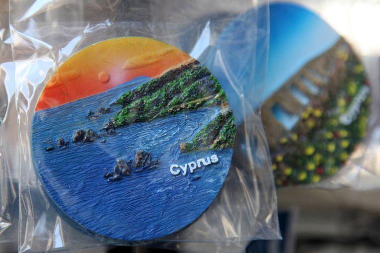 Cypriotische souvenirs in een winkel in Nicosia Beeld ANP