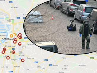 IN KAART. Nieuwste granaataanval is laatste in rij van tientallen aanslagen in Antwerpen