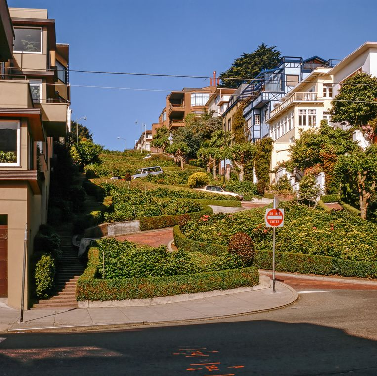 Lombard Street in San Francisco, California Beeld COLOURBOX