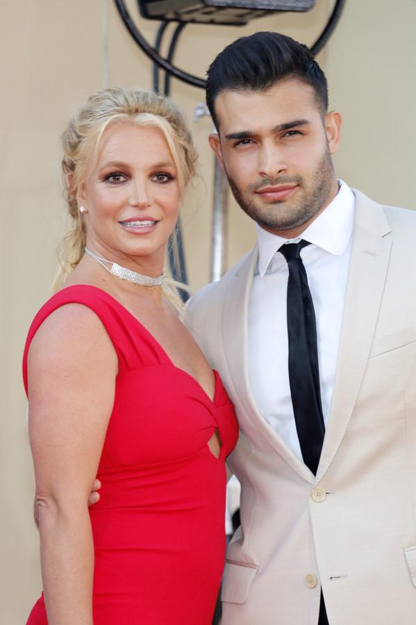 Britney Spears en Sam Asghari in 2019.