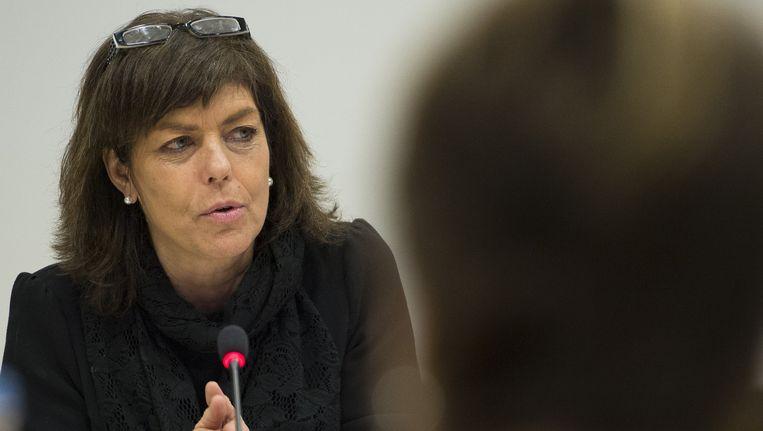 Minister van Onderwijs van de Franse gemeenschap Joëlle Milquet. Beeld BELGA